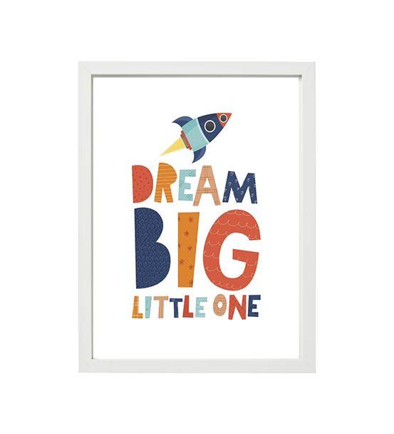 Dream Big little one tekli çerçeve seti