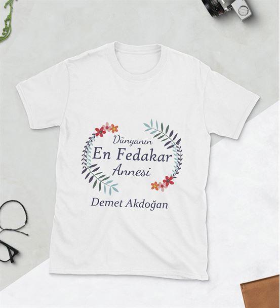 Dünyanın En Fedakar Annesi Baskılı Tshirt