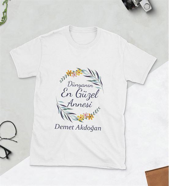 Dünyanın En Güzel Annesi Baskılı Tshirt