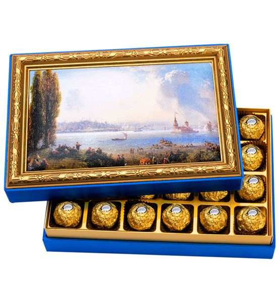Eski İstanbul Çerçeveli Çikolata Kutusu