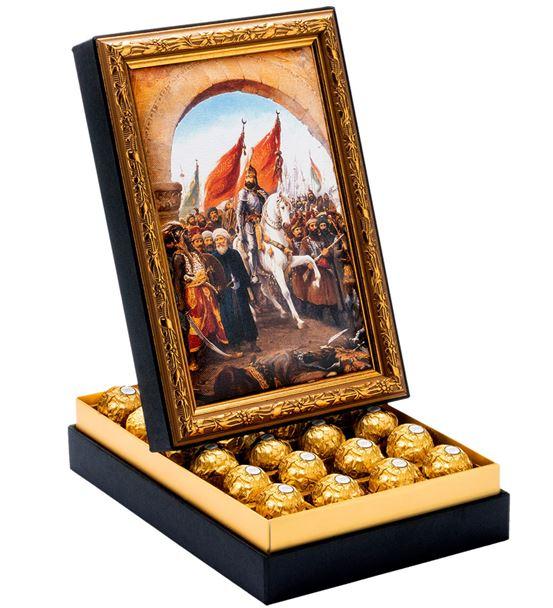 Fatih Sultan Mehmet Çerçeveli Çikolata Kutusu