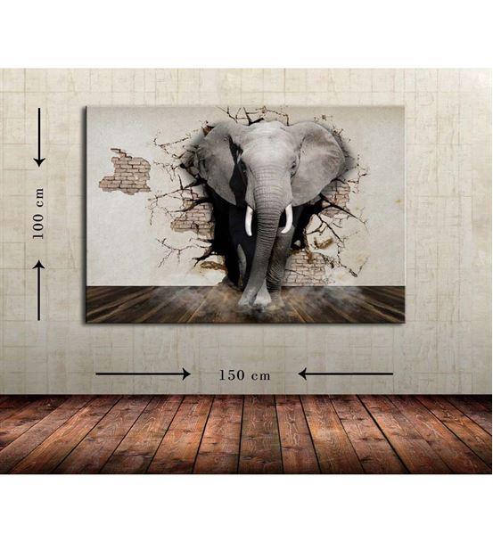 Fil 2 Büyük Boy  Kanvas Tablo 100x150 cm