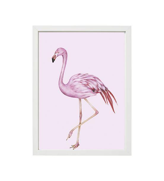 Flamingo Pembe Tekli Çerçeve Seti
