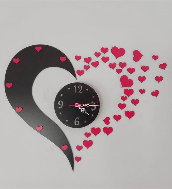 Flying Hearts Çok Parçalı Duvar Saati