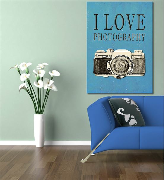 Fotoğraf Makinası Serisi A Kanvas Tablo 20x30 cm