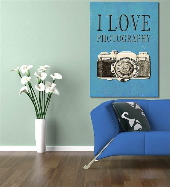 Fotoğraf Makinası Serisi A Kanvas Tablo 50x70 cm