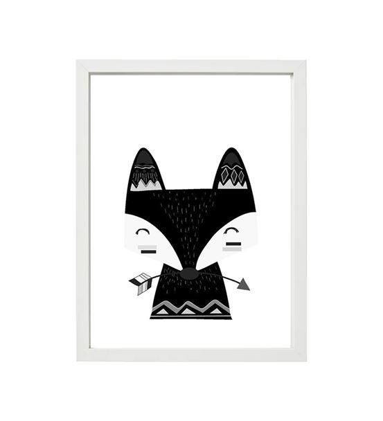Fox Tilki Siyah beyaz tekli çerçeve seti
