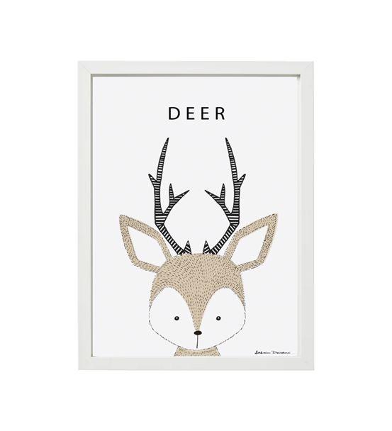 Geyik Deer Tekli Çerçeve Seti