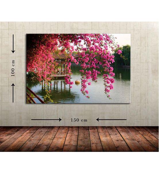 Göl Manzara 2 Büyük Boy  Kanvas Tablo 100x150 cm