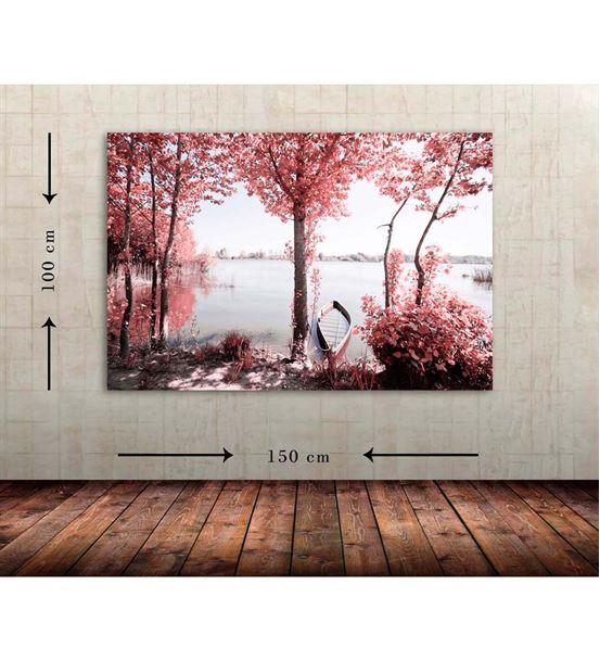 Göl Manzara Büyük Boy  Kanvas Tablo 100x150 cm