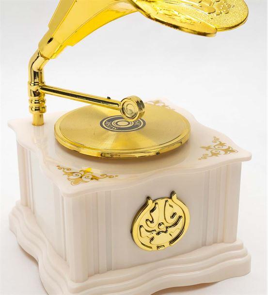 Gramofon Mini Beyaz Müzik Kutusu