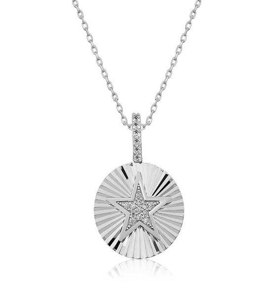 Gümüş 925 Ayar Fırfırlı Yıldız Bayan Kolye