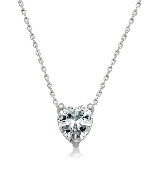 Gümüş Kalpli Tasarım Bayan Kolye