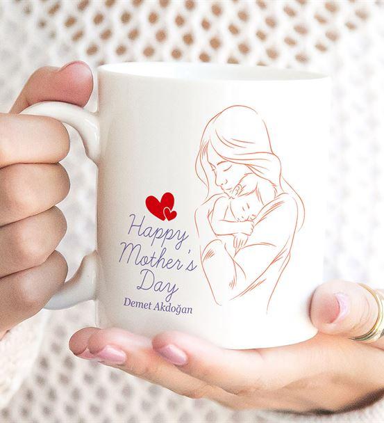 Happy Mother's Day Anne Bebek Tasarımlı Kupa