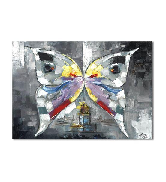 Harmoni Kelebek Kanvas Tablo 60x90 cm