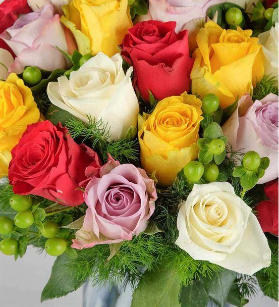 Hayalperest Renkli Güller Aranjmanı