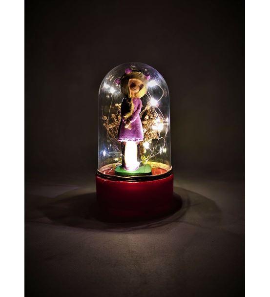 Işıklı Fanus Sevimli Sarışın Kız-Ebamtf0017