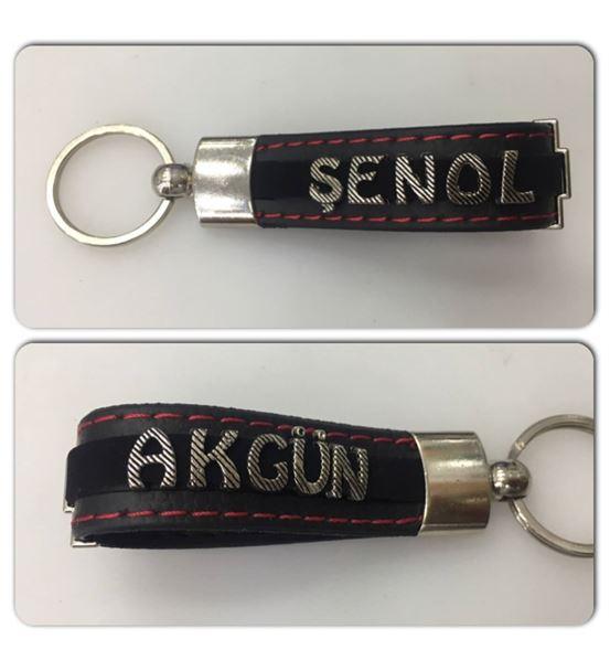 İsimli Anahtarlık - Çift taraflı İsim yazılır