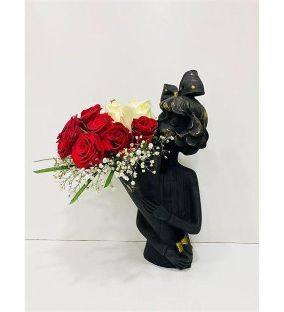 Juliet Serisi Kırmızı Beyaz Güller