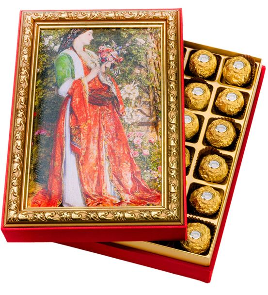 Kadın Çerçeveli Çikolata Kutusu