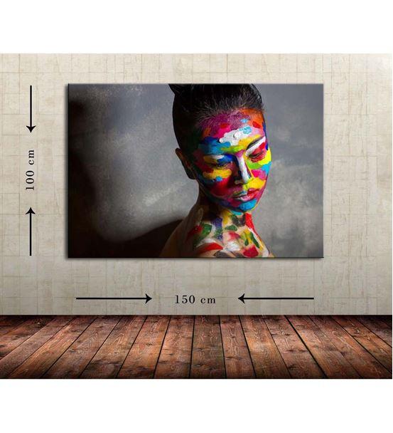 Kadın Portre Büyük Boy  Kanvas Tablo 100x150 cm