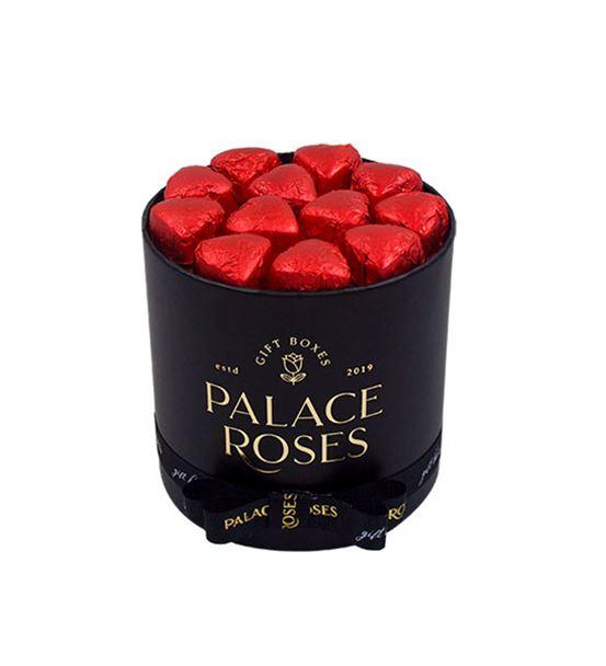 Kağıt Siyah Yuvarlak Kutuda Çikolata