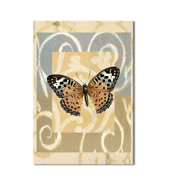Kahverengi Kelebek Kanvas Tablo 35x50cm
