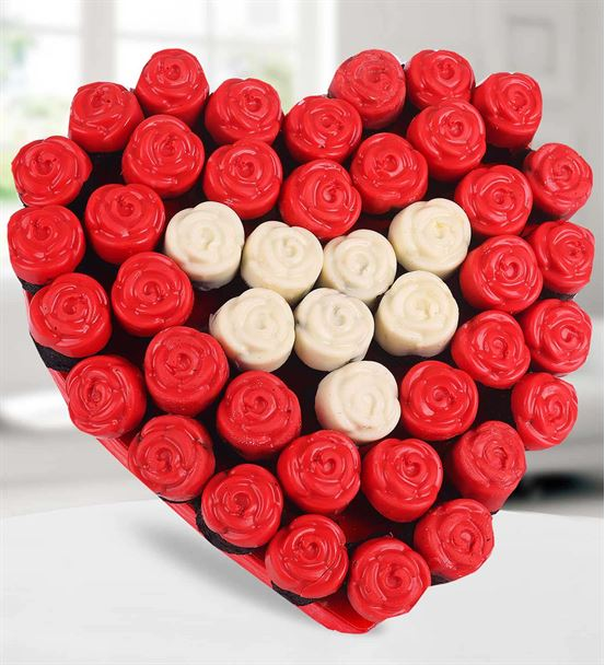Kalbim Seninle Çikolata Kaplı Kek Buketi