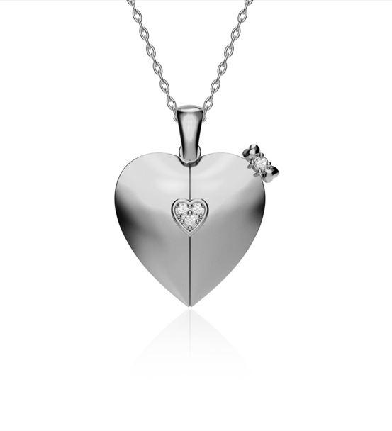 Kalbimin Sahibi İsimli Beyaz Gümüş Kolye