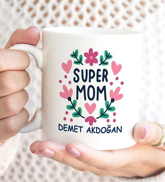 Kalpler Süper Mom Baskılı Kupa Bardak