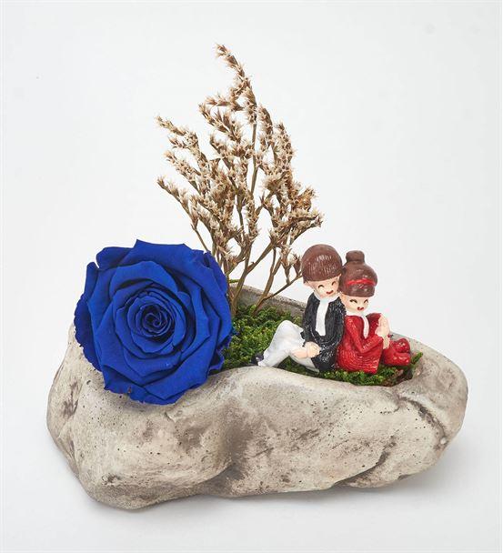 Kapadokya Mavi Solmayan Gül ve Sevgililer