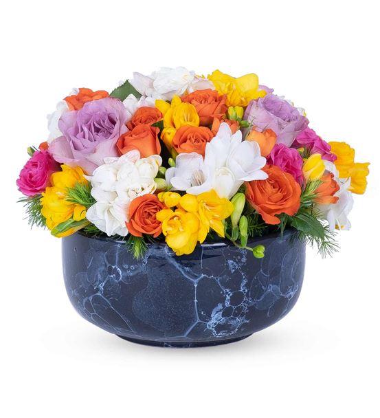 Kayıp Şehir Mixed Colorful Tasarım Çiçek Aranjmanı