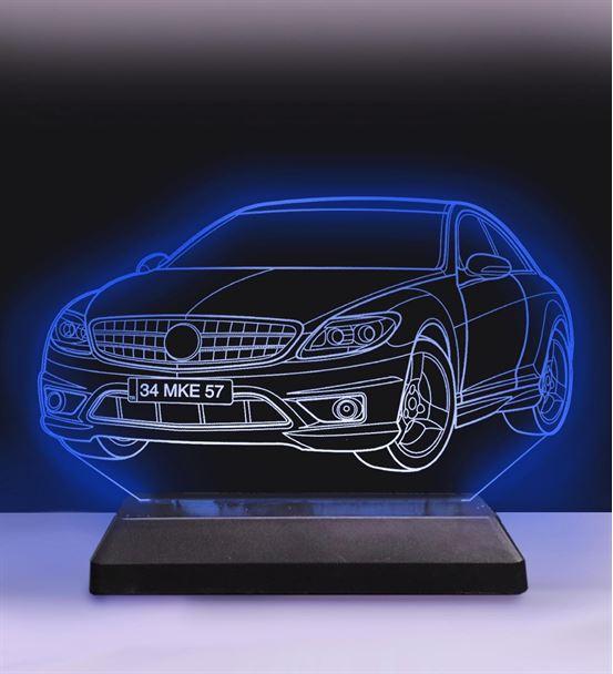 Kişiye Özel Araba Modelli Led 3D Hediyelik Lamba