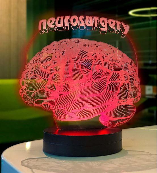 Kişiye Özel Doktorlar için Beyin Figürlü Led Lamba