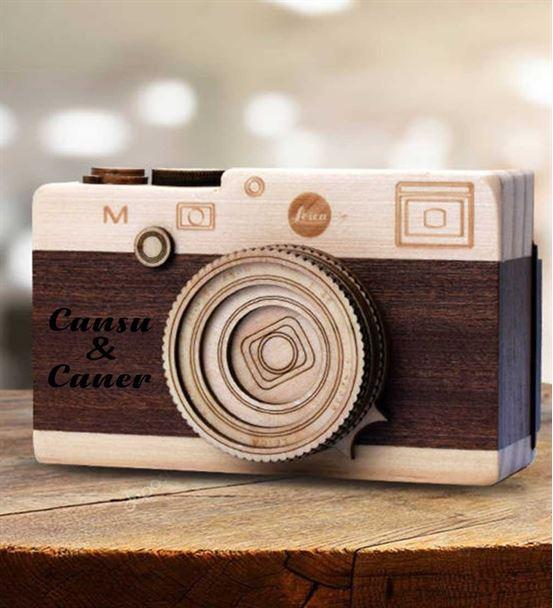 Kişiye Özel Fotoğraf Makinesi Tasarım Müzik Kutusu