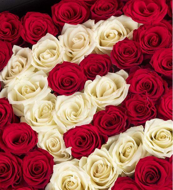 Kişiye Özel Kalp Kutuda Kırmızı Güller
