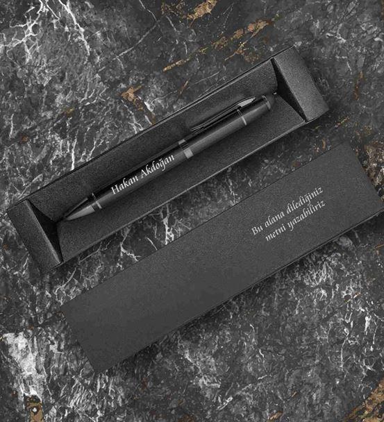 Kişiye Özel Mesajlı Kutu Ve Metal Kalem