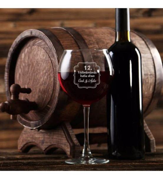 Kişiye Özel Mesajlı Şarap Kadehi