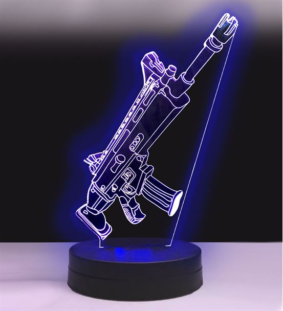 Kişiye Özel PUBG TPS SCAR-L Tüfek Hediye Led Lamba