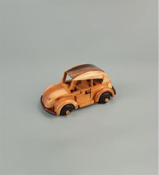 Küçük Boy Ahşap Oyuncak Vosvos Araba
