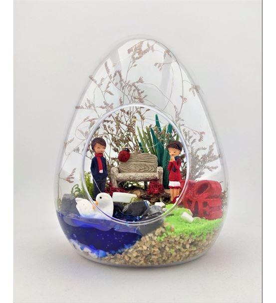 Küçük Yumurta Işıklı Aşık Çift Teraryum-Kym0004