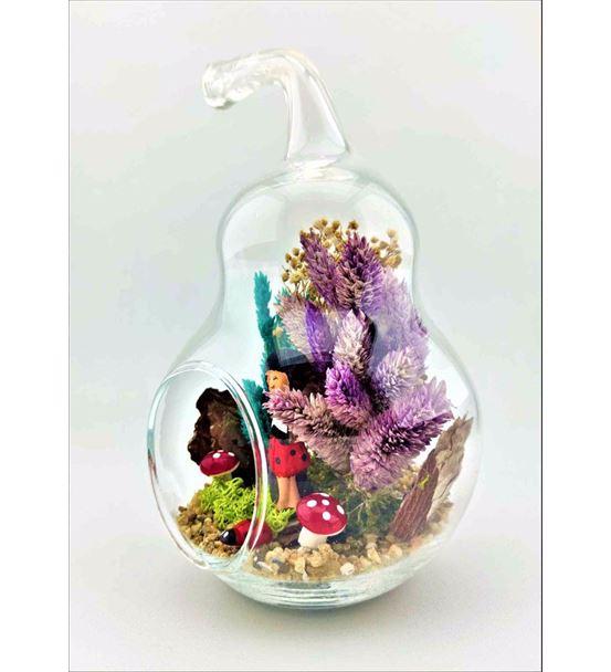 Kuru Çiçek Teraryum Kırımızı Etekli Kız-Ebama0015