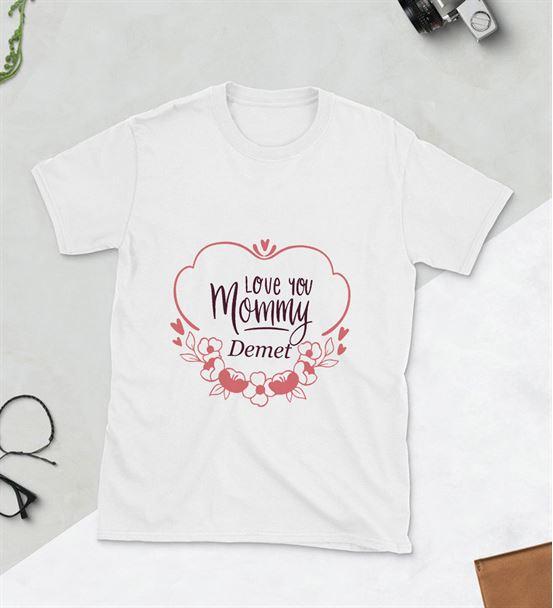 Love You Mommy Baskılı Tshirt