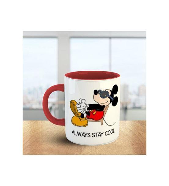 Mickey Mouse Kırmızı Beyaz Kupa