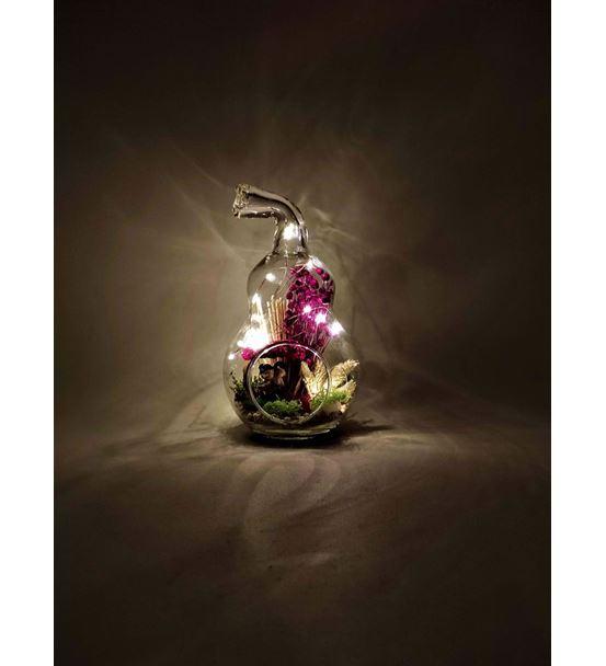 Mini Armut Işıklı  Ağaçlı Sevgili -Ebama0063