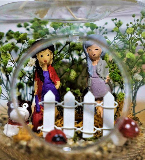 Mini Elma Kız Kardeş Arkadaş Teraryum-Ebame0065