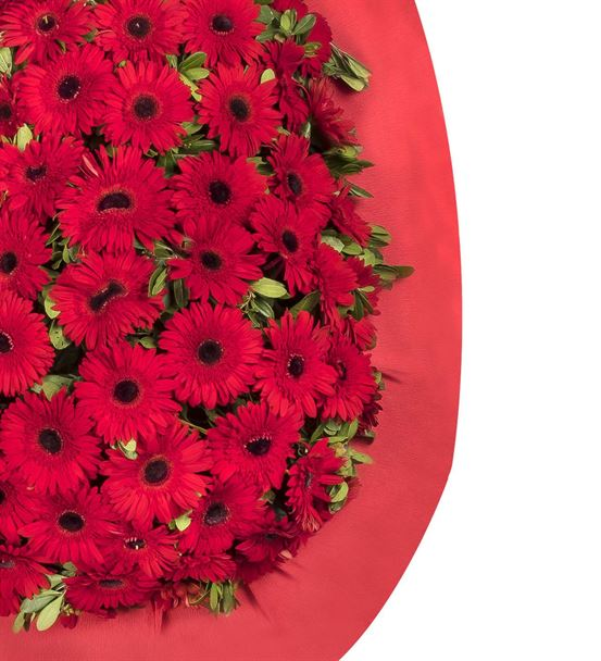 Mutlu Yarınlar Kırmızı Gerbera Kutlama Çelengi
