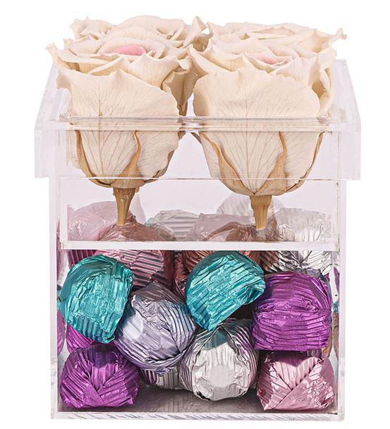 Nocturne Serisi Krema Dolgulu Çikolata -White Pink