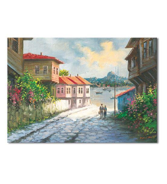 Noltalji Sokaklar Serisi C Kanvas Tablo 20x30 cm