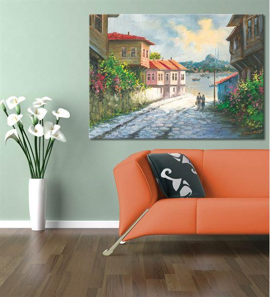 Noltalji Sokaklar Serisi C Kanvas Tablo 75x100 cm